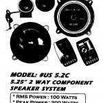 AMERICA SOUND #US 5.2C 2 WAY COMPONENT
