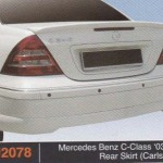 MERCEDES BENZ C CLASS 03-08 REAR SKIRT CARLSSON (PU2078)