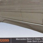 MERCEDES BENZ C CLASS 03-08 SIDE SKIRT LORRINSOR (PU2099)