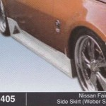 NISSAN FAIRLADY SIDE SKIRT WEBER SPORT (B1405)
