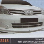 NISSAN LIVINA FRONT SKIRT WITH LOGO IMPUL 2 (PU2413)