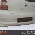 NISSAN LIVINA REAR SKIRT IMPUL 2 (PU2415)