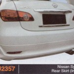 NISSAN SYLPHY REAR SKIRT IMPUL (PU2357)