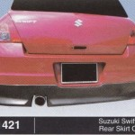 SUZUKI SWIFT 08 REAR SKIRT OEM (B1421)