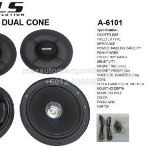 "WALS AUDIO LOGIC SOLUTION 6"" DUAL CONE"