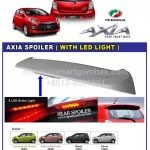 PERODUA AXIA SPOILER WITH LED LIGHT