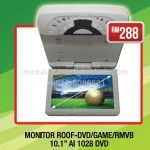 "Monitor Roof-DVD/GAME/RMVB 10.1"" AI 1028 DVD"