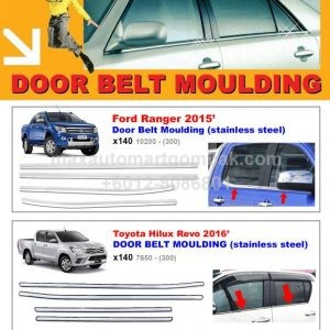 Door Belt Moulding with Chrome Plating