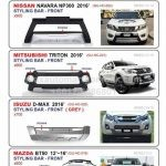 Styling Bar 4x4 for Nissan, Isuzu, Mazda, Mitsubishi