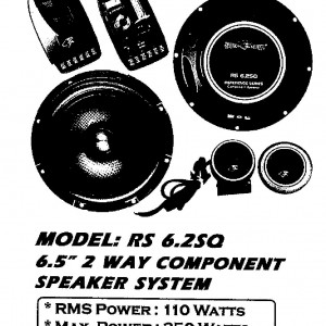 AMERICA SOUND RS 6.2SQ 2 WAY COMPONENT