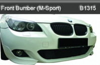 BMW-E60 FRONT BUMPER WITH LAMP COVER M-SPORT (B1315)