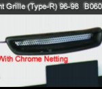 HONDA CIVIC FRONT GRILLE WITH NETTING CHROME TYPE-R (B0605-S)