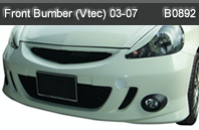 HONDA JAZZ 03-07 FRONT BUMPER WITH LAMP VTEC (B0892)