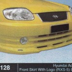 HYUNDAI ACCENT FRONT SKIRT WITH LOGO RXS-5 OEM (B1128)