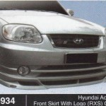 HYUNDAI ACCENT FRONT SKIRT WITH LOGO RXS OEM (B0934)