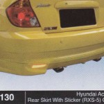 HYUNDAI ACCENT REAR SKIRT RXS-5 WITH STICKER OEM (B1130)
