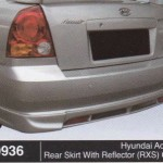 HYUNDAI ACCENT REAR SKIRT WITH REFLECTOR RXS OEM (B0936)