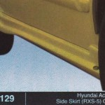 HYUNDAI ACCENT SIDE SKIRT RXS-5 OEM (B1129)