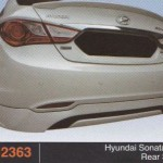 HYUNDAI SONATA 11 REAR SKIRT (PU2363)