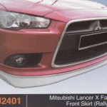 MITSUBISHI LANCER X FRONT SKIRT RALLY ART (PU2401)