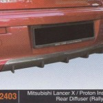 MITSUBISHI LANCER X REAR DIFFUSER RALLY ART (PU2403)