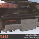 MITSUBISHI LANCER X REAR SKIRT ELEGANCE (PU2382)