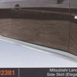 MITSUBISHI LANCER X SIDE SKIRT ELEGANCE (PU2381)