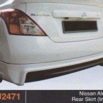 NISSAN ALMERA REAR SKIRT IMPUL (PU2471)