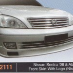NISSAN SENTRA 06-ABOVE FRONT SKIRT WITH LOGO NISMO (PU2111)