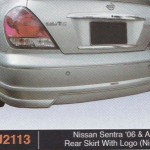 NISSAN SENTRA 06-ABOVE REAR SKIRT WITH LOGO NISMO (PU2113)