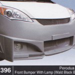 PERODUA ALZA FRONT BUMPER WITH LAMP WALD BLACK BISON (B1396)