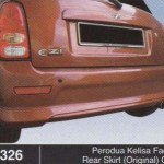 PERODUA KELISA FACELIFT REAR SKIRT ORINIGAL OEM (B1326)