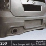 PERODUA MYVI REAR BUMPER WITH 2PCS EXHAUST HIKARI (B1250)