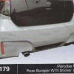 PERODUA MYVI REAR BUMPER WITH STICKER BM (B1179)