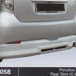 PERODUA MYVI REAR SKIRT C-ONE (B1058)