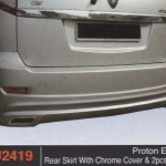 PROTON EXORA REAR SKIRT WITH CHROME COVER & 2PC PIPE (PU2419)