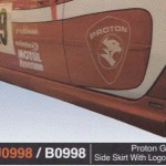 PROTON GEN 2 SIDE SKIRT WITH LOGO R3 (PU0998)