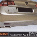 PROTON PREVE REAR SKIRT WITH PIPE & CHROME COVER (PU2459)