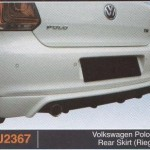 VOLKSWAGEN POLO TSI REAR SKIRT RIEGER (PU2367)