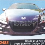 HONDA CRZ 2013 FACELIFT FRONT SKIRT WITH DAYLIGHT MUGEN (PU2483)