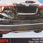 HONDA HRV 2015 REAR SKIRT MUGEN (PU2574)