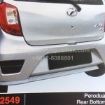 perodua axia REAR BOTTOM LINE