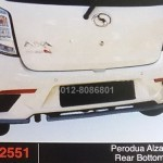 perodua axia SE REAR BOTTOM LINE