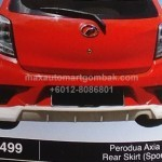 perodua axia SE REAR SKIRT SPORTINO