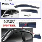 CIVIC 2016 INJECTION DOOR VISOR S/STEEL