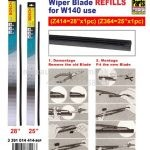 Bosch Wiper Blade Refills for W140 Use