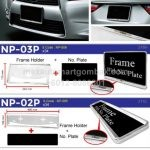 Number Plate Holder Chrome