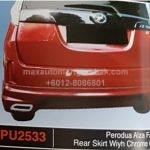 PERODUA ALZA FACELIFT REAR SKIRT PU2533